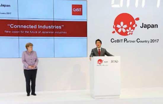 日本内阁总理安倍晋三在CeBIT发言