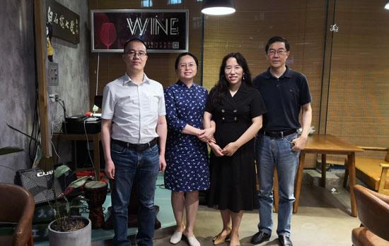工业4.0研究院院长胡权与安世亚太董事长张国明交流