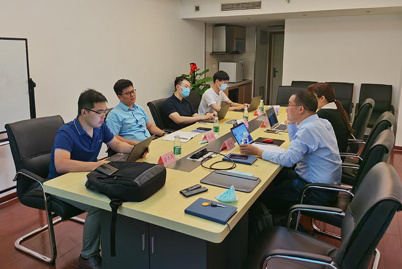中国互联网投资基金与翼络数字交流